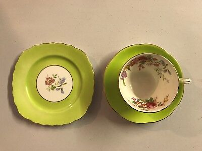 Adderley Floral Tea Cup, Saucer and Plate