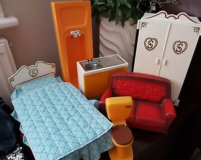 sindy original 1970s furniture bundle