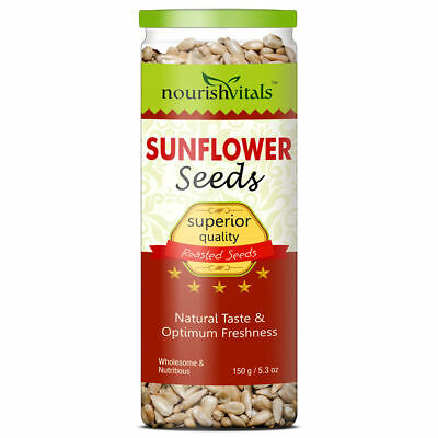 2 x NourishVitals Roasted Sunflower Seeds (Superior Quality) - 150 gm _