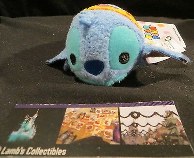 "Disney Store Authentic Hawaii exclusive Stitch tsum tsum mini 3.5"" plush toy"