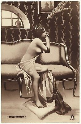 1910 Original French Erotic Rppc Nude Sexy Girl Early Fernande Jean Agelou