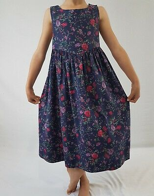 Vintage Laura Ashley Dress Floral Cotton Pinafore 8yrs 9yrs 10yrs