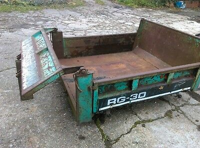kubota track dumper tipping body RG-30 ideal tipping trailer project