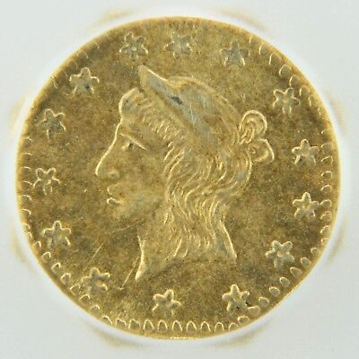 1857 California Gold Token Octagonal Liberty - MS62