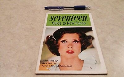 Seventeen Magazine Guide to New Faces  booklet 1968 makeup hairdos fashion looks