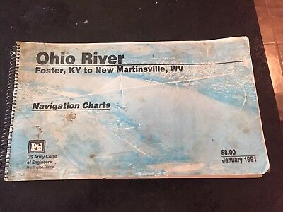 1987 Ohio River Navigation Charts Us Army Corps Of Engineers Ohio River
