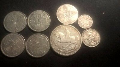 1924-1935 George V Crown,florins  .500 Silver Coins