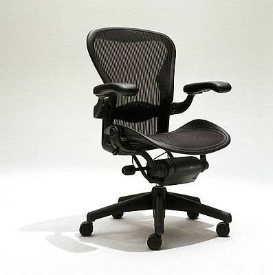 Herman Miller Aeron Mesh Office Desk Chair Medium Sz B fully adjustable lumbar
