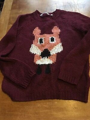 Generation By New Look Girls Sweater With Fox Detail - Age 9 Years