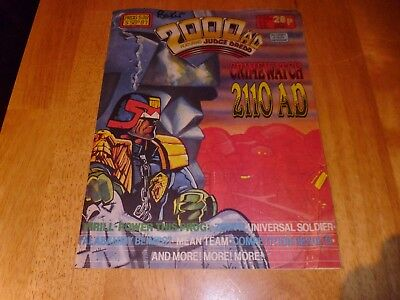 2000 AD Featuring JUDGE DREDD Prog' 538