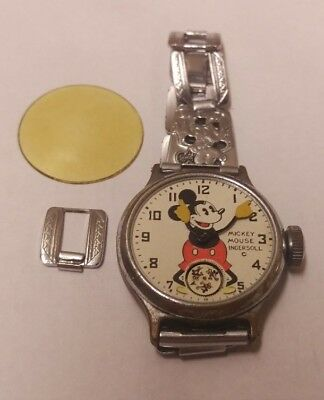 Vintage Ingersoll Mickey Mouse Watch * For Parts or Repair