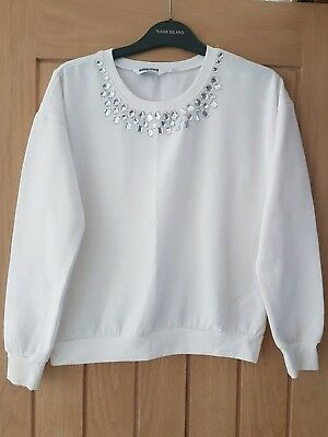 girls embellished jewelled jumper from generation new look age 12 to 13 years