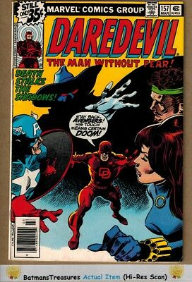 Daredevil #157 (7.5) VF- Avengers Appearance 1979 Bronze Age Key Issue