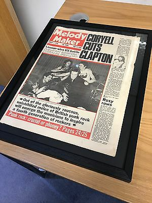 Very Rare Framed Original 1976 Sex Pistols Music Paper Cover Melody Maker