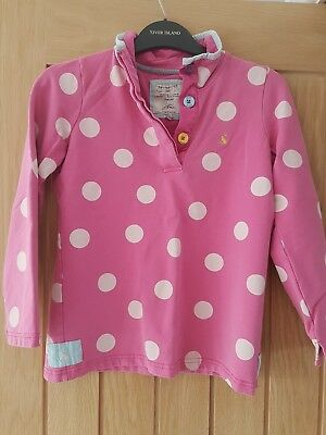 girls pink spotty jumper from joules age 9 to 10 years