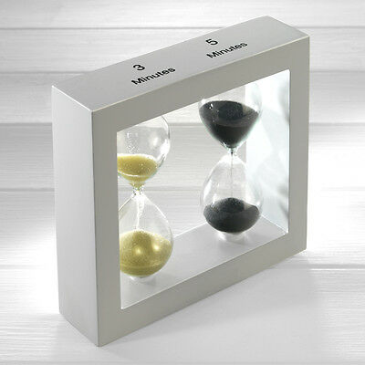 Double Glass Sand and Black Sand Timer