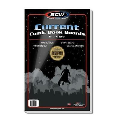 100 BCW Current Comic Book Archival 2-mil Poly Bags + Acid Free Backer Boards