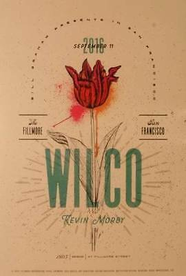 Wilco Fillmore Poster Bill Graham Concert Art plus free poster Collectable