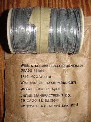 New .041 Annealed Aircraft Safety Wire, FS1010, QQW461A