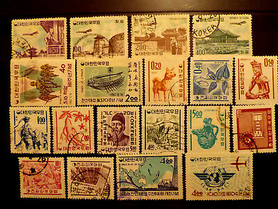 Small used stamps collection of Korea S. as scan.