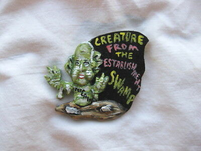 "Sen. John McCain ""Creature Est. Swamp"" Novelty Halloween Political Pin"