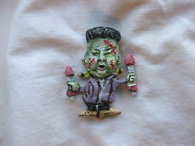 "Kim Jong Un ""Frankenstein"" Novelty Halloween Political Pin"