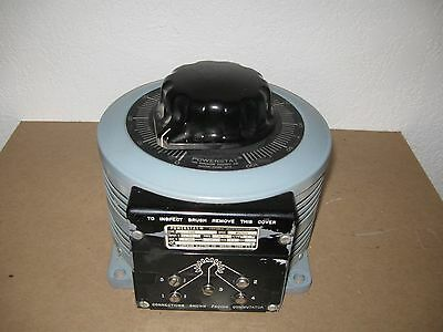 Powerstat Variac Variable Transformer 136B 120 Volts 22 Amps 3.1 KVA