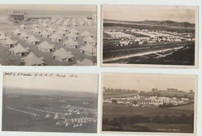 4 Rp Military Postcards: Military Camps