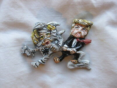 President Donald Trump Vs Hillary Mummy Novelty Halloween Political Pin