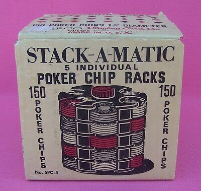 Poker Chip Racks Vintage STACK-A-Matic 5 Individual No. SPC-5 by Arrco Cards USA