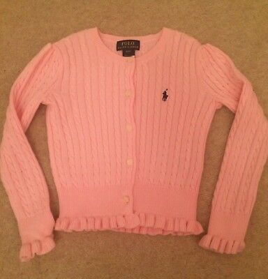 Girls Pink Cable Knit Ralph Lauren Cardigan (age 4)