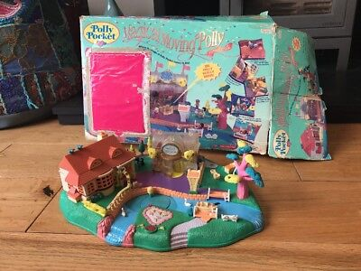 BlueBird Vintage Polly Pocket Magical Moving Pollyville Boutique Playset Boxed