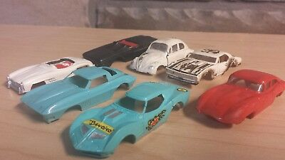 aurora tjet slot car body lot for parts projects