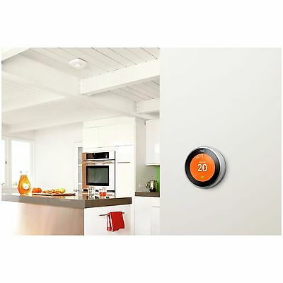 Nest Learning Thermostat 3rd Generation Home Automation Smart Heating (silver)