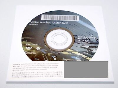 Adobe Acrobat XI Standard (Windows) DVD - Genuine, Unused