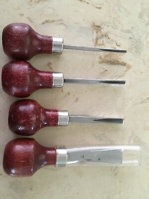 ramelson wood carving tools, Set Of 4 gouging #7 on big one