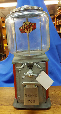Antique 1950's Victor Topper Deluxe Penny Candy Gumball Machine