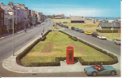 Postcard The Strand Walmer Deal (Red Telephone Box/old Cars Etc)