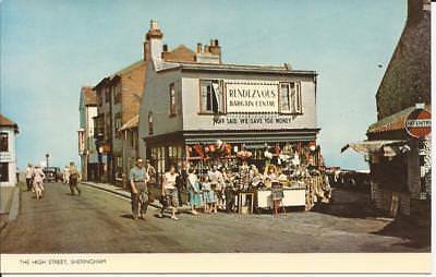 Postcard The High Street Sheringham (Rendevous Bargain Centre)