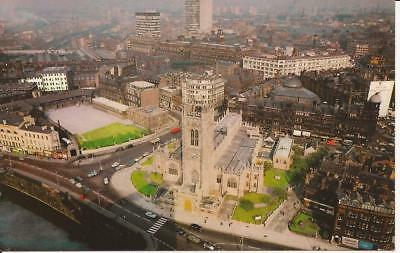 Air/aerial View Postcard Of The Cathedral Manchester