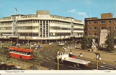 Postcard Paragon Square Hull (Binns Store/ Red Single Decker Bus Etc)