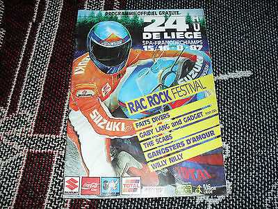 1987 Spa Francorchamps Programme - Motorcycle 24 Hours