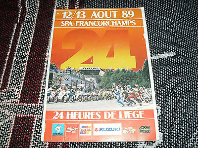 1989 Spa Francorchamps Programme - Motorcycle 24 Hours