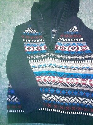 cotton multi coloured boys hooded jumper size 3 years