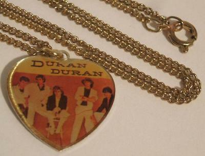 New Nip Vtg 1980S Duran Duran Hear Shaped Necklace Jewelry - New Wave Music Rock