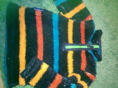 boys fleece fluffy multi coloured aged 3-4 mountain warehouse