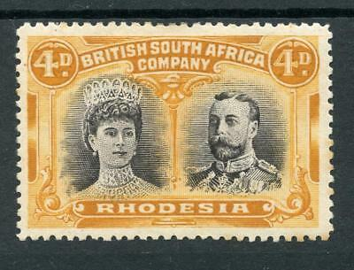 Rhodesia 1910 Double Head 4d black and orange SG140 MM