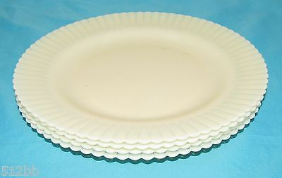 "Lot of 4 Macbeth Evans Petalware Opalescent 9-1/4"" Dinner Plates"