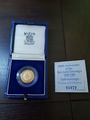1989 half proof sovereign