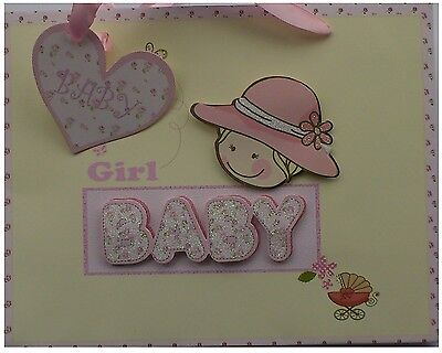 Gift Bag - Medium Size - Decoupage Baby  Girl
